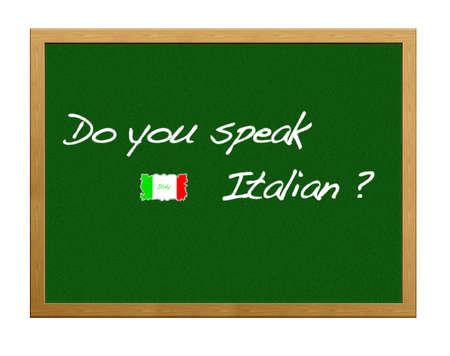 Do you speak italian?. photo
