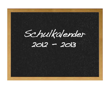 School calender 2012-2013 in german. photo