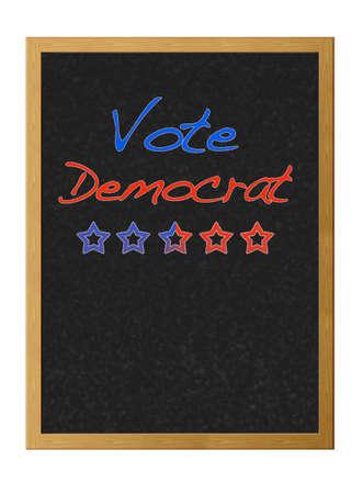 democrat: Vote democrat. Stock Photo