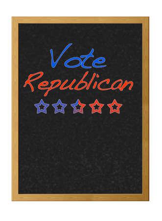 republican: Votar por los republicanos.