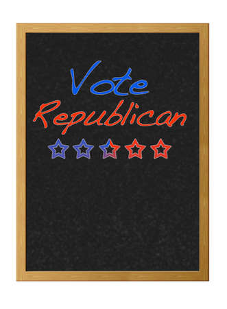 Vote republican. Stock Photo - 12214874