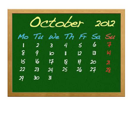 Calendar 2012, October. photo