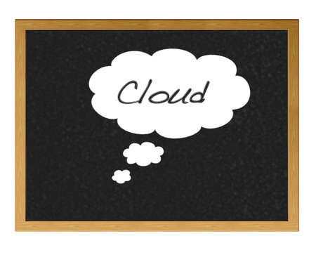 Cloud drawn on a blackboard. Stock Photo - 12214960