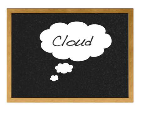 Cloud drawn on a blackboard. Stock Photo - 12214960