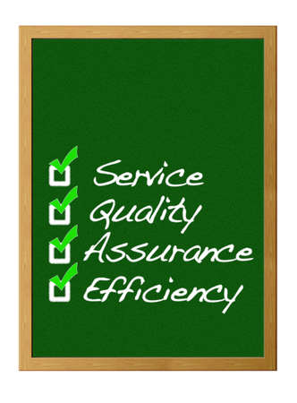 Service, Quality, assurance, Efficiency. Stock Photo - 12215032