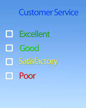 questionaire: Customer service.