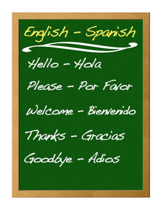 English - Spanish. photo
