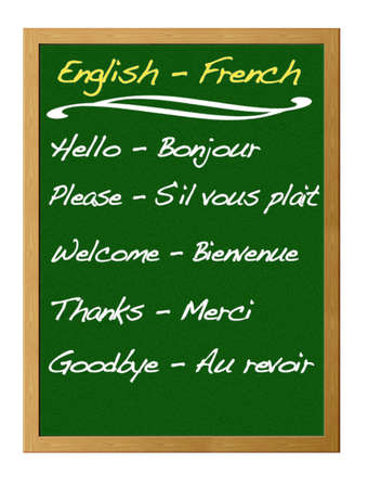 English - French. Stockfoto