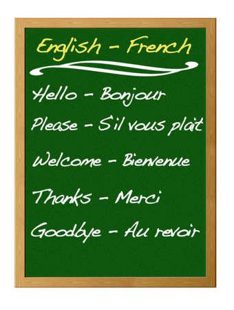 English - French. Stock Photo - 12215089