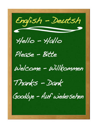 English - Deutsh. photo