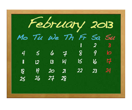 Calendar 2013, February. photo
