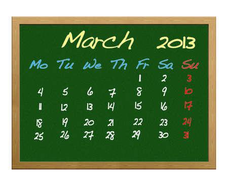 Calendar 2013, March. photo
