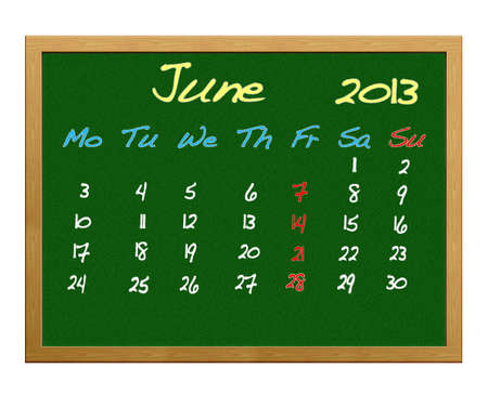 Calendar 2013, June. photo