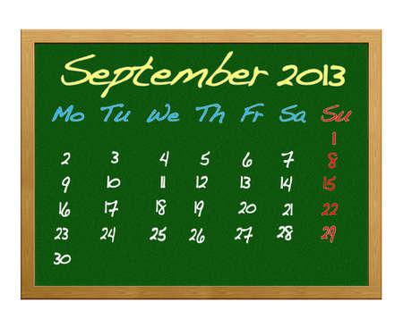 Calendar 2013,September. photo