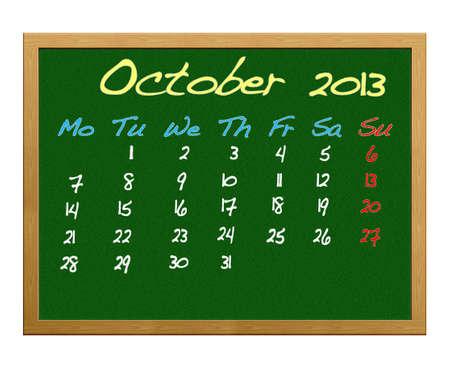 Calendar 2013, October. photo