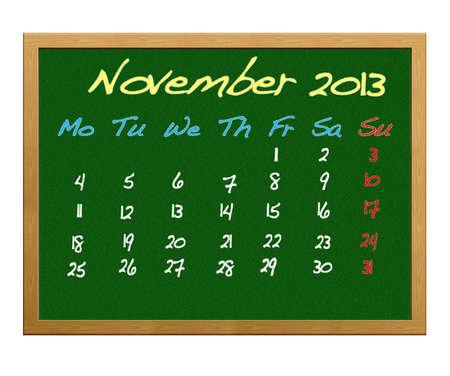 Calendar 2013, November. photo