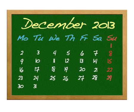 Calendar 2013, December. Stock Photo - 12215106