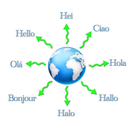 Hello in different languages. photo
