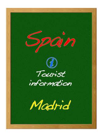 Tourist information, Spain. photo