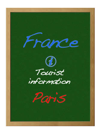 tourist information: Tourist information, France. Stock Photo
