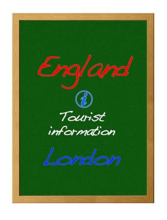 tourist information: Tourist information, England. Stock Photo