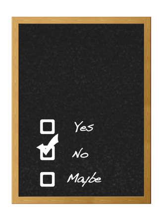 möglicherweise: Ja, nein, vielleicht. Lizenzfreie Bilder