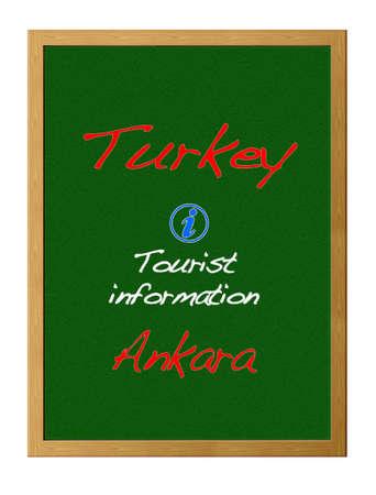 tourist information: Tourist information, Turkey. Stock Photo