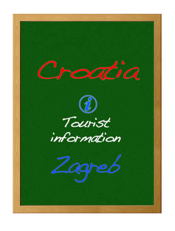 tourist information: Tourist information,Croatia. Stock Photo