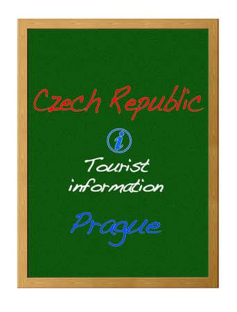tourist information: Tourist information, Czech Republic. Stock Photo