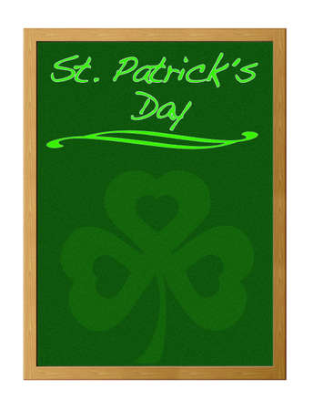 Blackboard with St. Patrick day. Stock Photo - 12215209