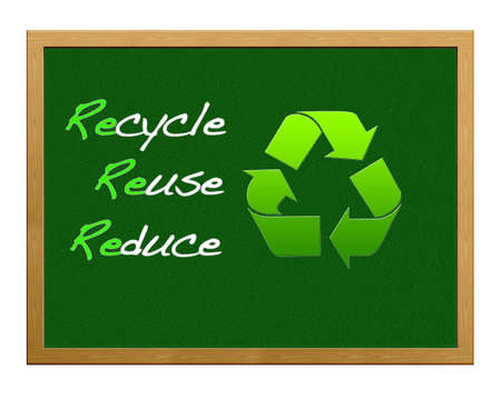Recycle,reuse,reduce. Stock Photo