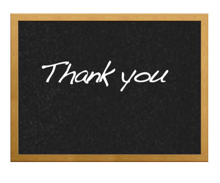 Blackboard with thank you. photo