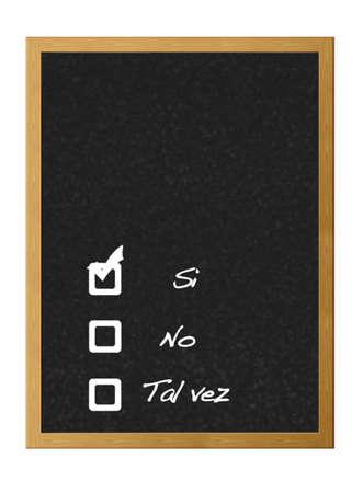 möglicherweise: Blackboard zu reagieren, ja, nein, vielleicht.