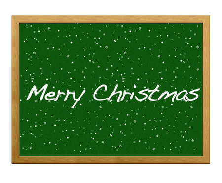 Isolated blackboard with Merry Christmas. photo
