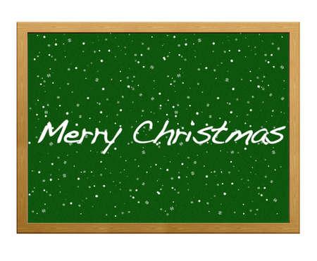 Isolated blackboard with Merry Christmas. Stock Photo - 12215289