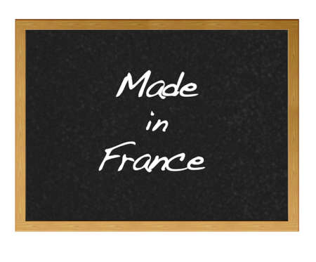 Isolated blackboard with Made in France. photo