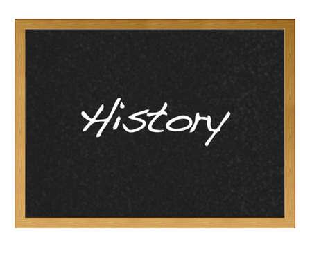 Blackboard with History. photo