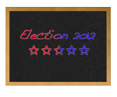 Isolated blackboard with Election USa 2012.