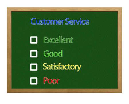 Blackboard with Customer service. photo