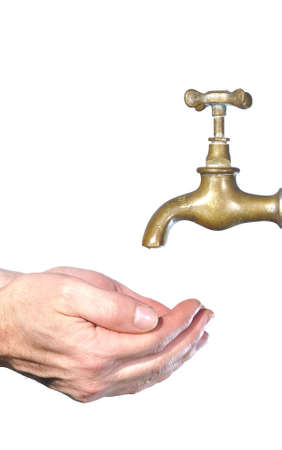 soapy water: Wash hands. Stock Photo
