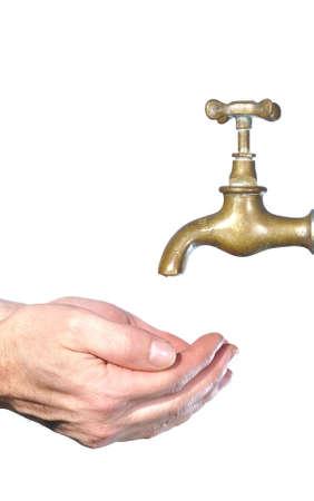 Wash hands. photo