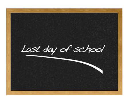 上学的最后一天。