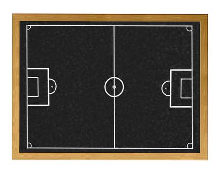 Blackboard with football field.