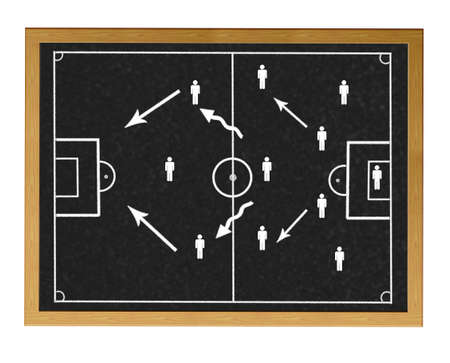 Blackboard with football field. photo