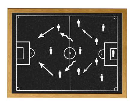 Blackboard with football field. photo