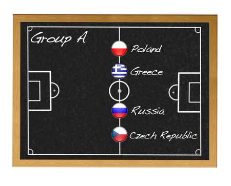 Group A 2012 European. Stock Photo - 12554828