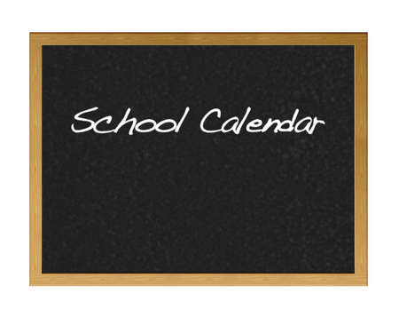 Blackboard with School calender. photo