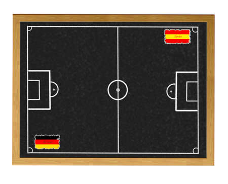 Blackboard Alemania - Espa�a coinciden. photo