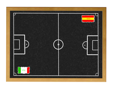 Blackboard Espa�a - Italia coinciden. photo