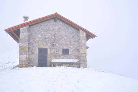 refuge: Mountain hut.  Stock Photo
